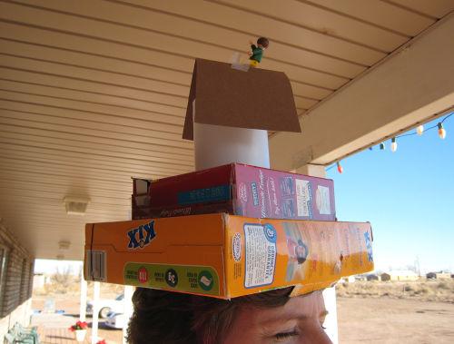 Boxtop lady