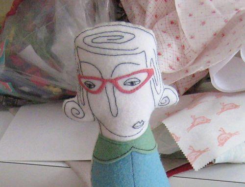 Cake doll glasses
